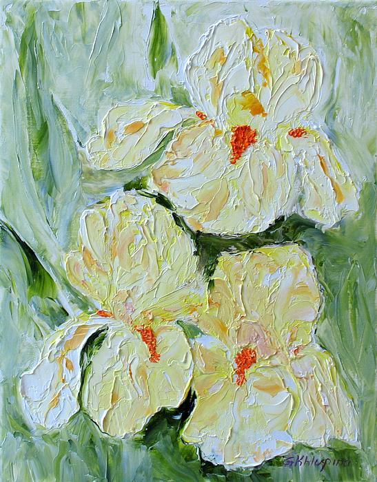 Galina Khlupina -  Three Yellow Irises
