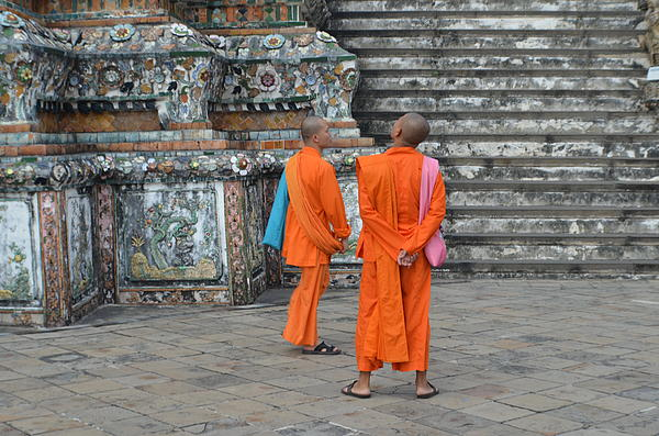 Two Monks Print by Michelle Meenawong