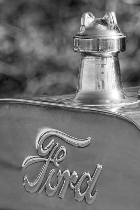 1911 Ford Model T Torpedo 4 Cylinder 25 Hp Hood Ornament  Emblem Print by Jill Reger