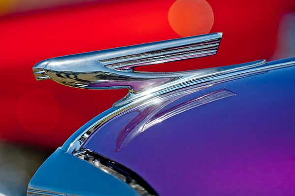 1937 Chevrolet Hood Ornament Print by Jill Reger