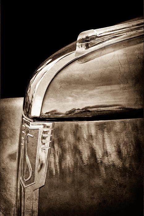 1939 Studebaker Commander Hood Ornament Print by Jill Reger