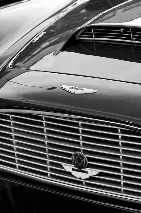 1960 Aston Martin Db4 Grille Emblem Print by Jill Reger