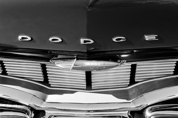 1960 Dodge Grille Emblem Print by Jill Reger