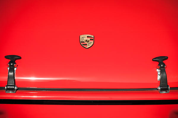 1971 Porsche 911 T Hood Emblem Print by Jill Reger