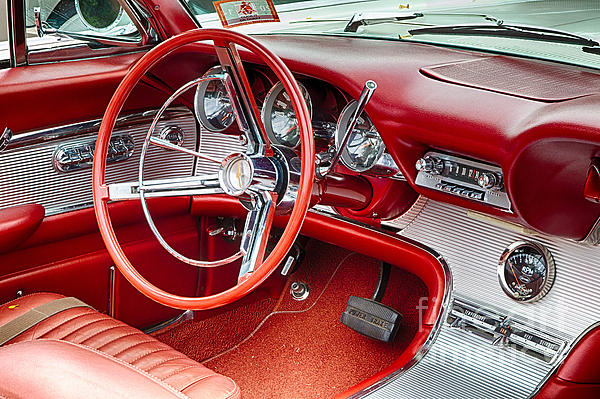 62 Thunderbird Interior Print by Jerry Fornarotto