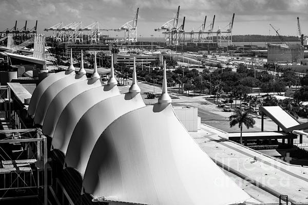 Port Of Miami Cruise Ship Terminal Miami Florida Print by Rene Triay Photography