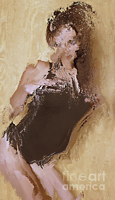 Abstracted  Model  Series     #2     Print by Andrew Govan Dantzler