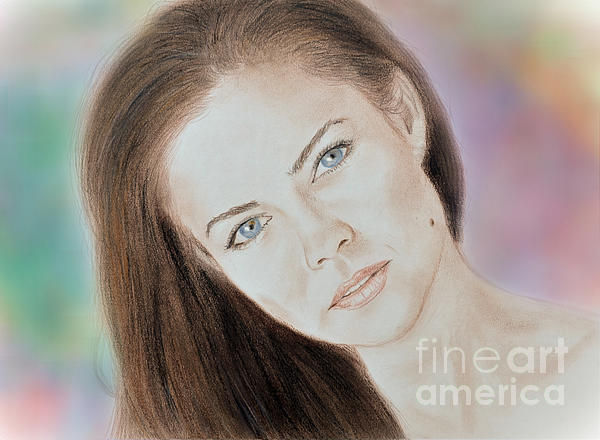 Jim Fitzpatrick - Actress and Model Susan Ward Blue Eyed Beauty with a Mole