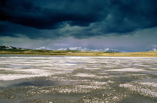 Altay Lakes  Kaldzhin Kol Print by Anonymous