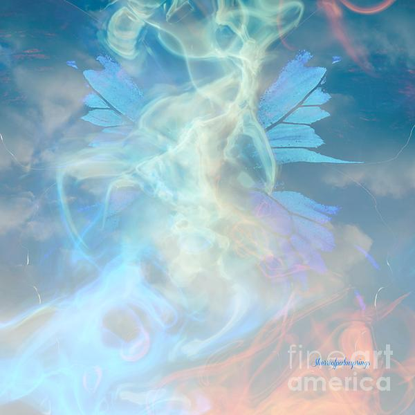 Angel Wings And Heaven  Print by Sherri  Of Palm Springs