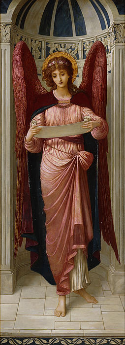 Angels Print by John Melhuish Strudwick