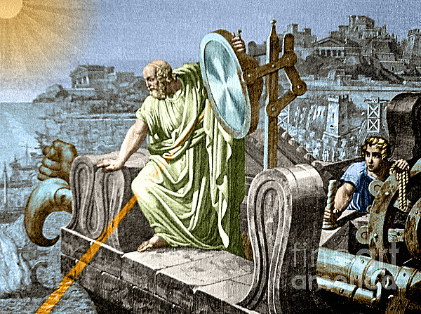 Archimedes Heat Ray Siege Of Syracuse Print by Science Source