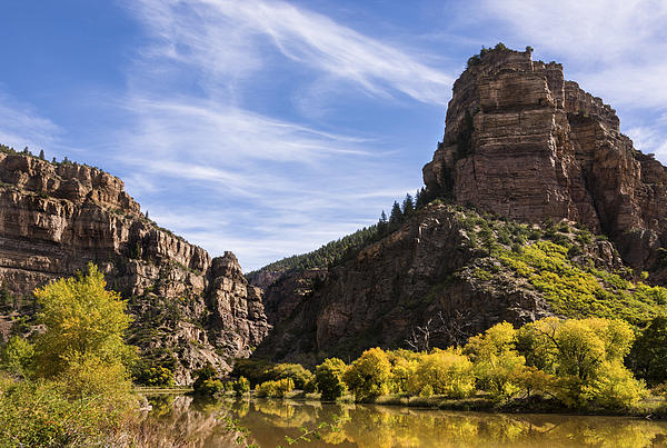 Autumn In Glenwood Canyon - Colorado Print by Brian Harig