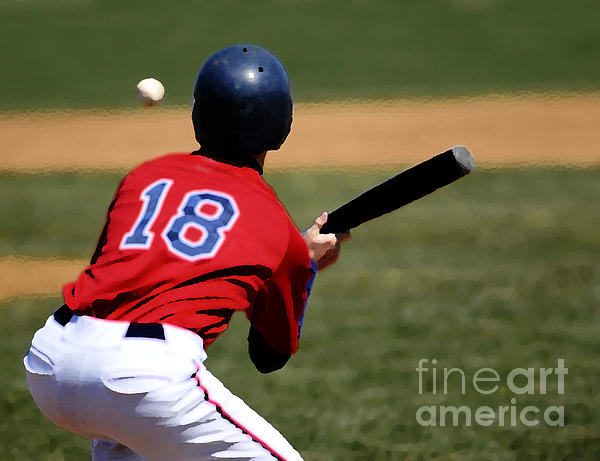 Baseball Batter Print by Lane Erickson