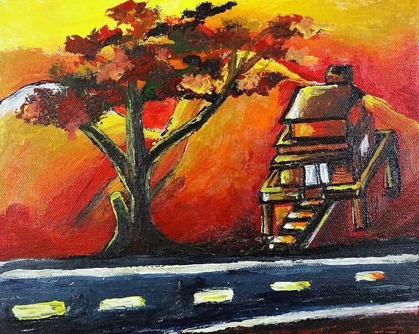 Artist Nandika  Dutt - Beautiful sunset