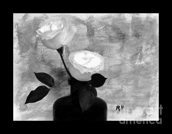 Black And White Rose Print by Marsha Heiken