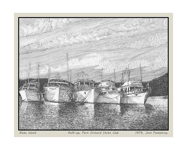 Blake Island Raft Up Print by Jack Pumphrey