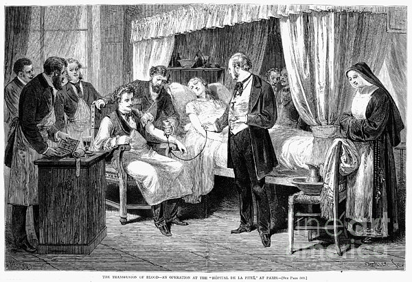 Blood Transfusion, 1874 Print by Granger