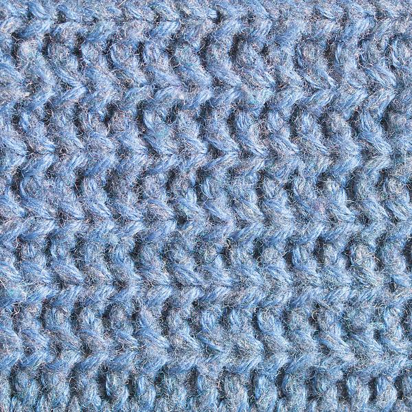 Blue Wool Print by Tom Gowanlock