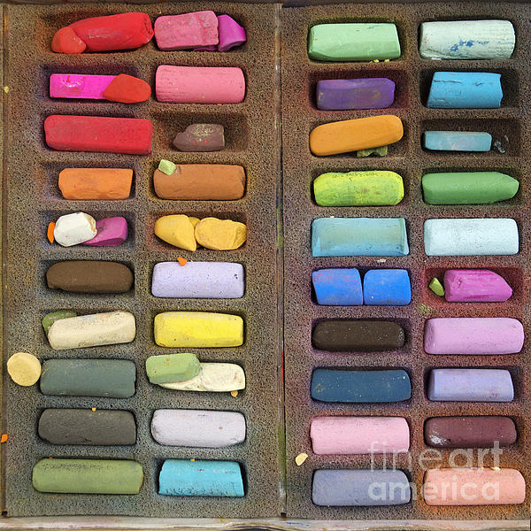 Box Of Pastels Print by Bernard Jaubert