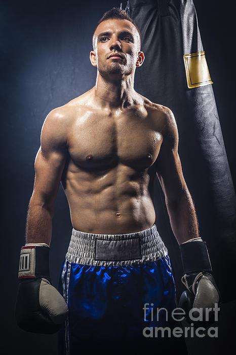 Boxer Print by Juan  Silva