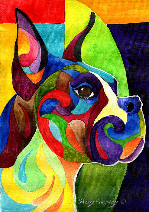 Boxer Print by Sherry Shipley