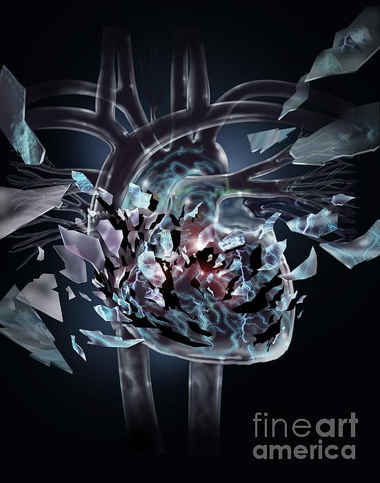 Broken Heart Print by Jim Dowdalls
