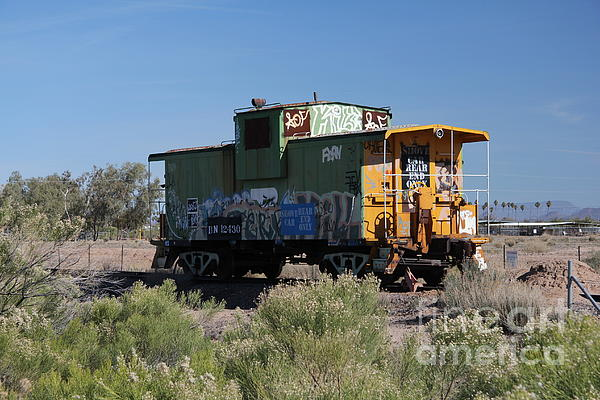 Caboose  Print by Diane  Greco-Lesser