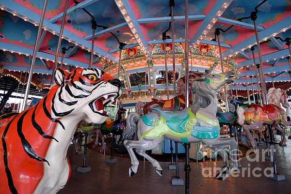 Carousel At Kennywood Park Pittsburgh Pennsylvania Print by Amy Cicconi