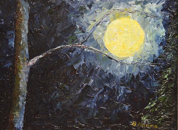 Catching The Moon Print by Burt Hanna