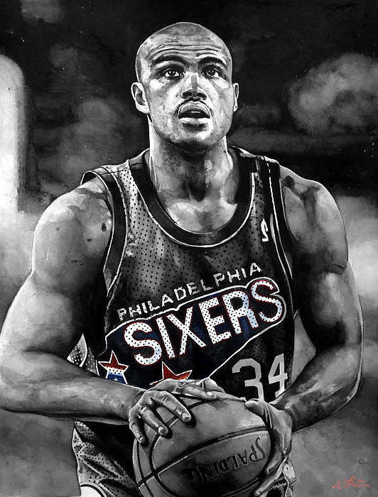 Charles Barkley Print by Michael  Pattison