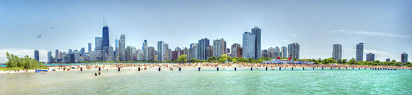 Chicago North Avenue Beach Print by Patrick  Warneka