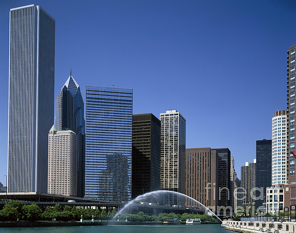 Chicago Skyline Print by Rafael Macia