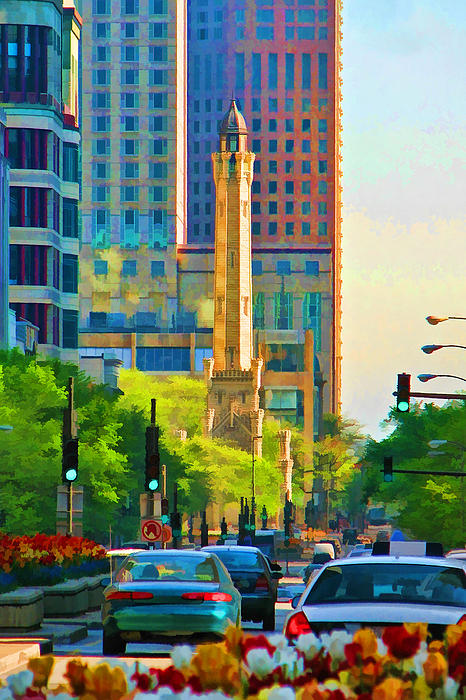 Chicago Water Tower Beacon Print by Christopher Arndt