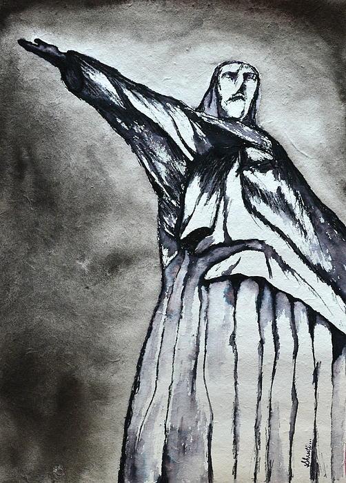 Christ The Redeemer Print by Shruti Shubham