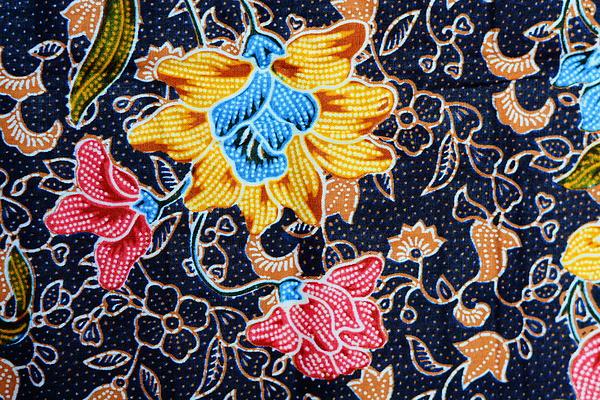Colorful Batik Cloth Fabric Background  Print by Prakasit Khuansuwan