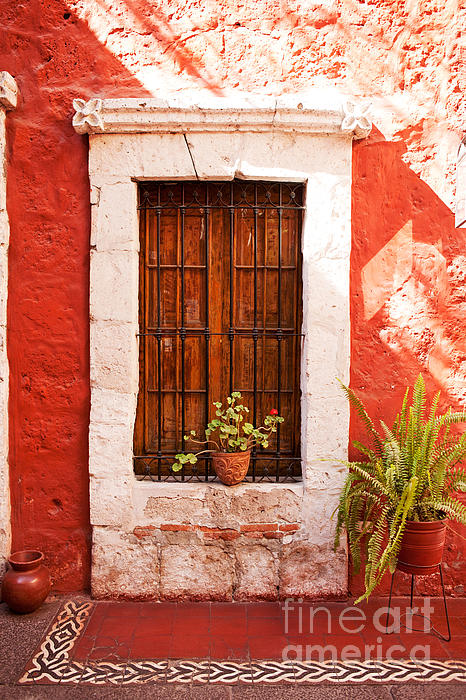 Colorful Old Architecture Details Print by Yaromir Mlynski