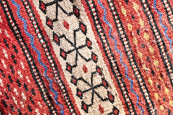Colorful Rug Print by Tom Gowanlock