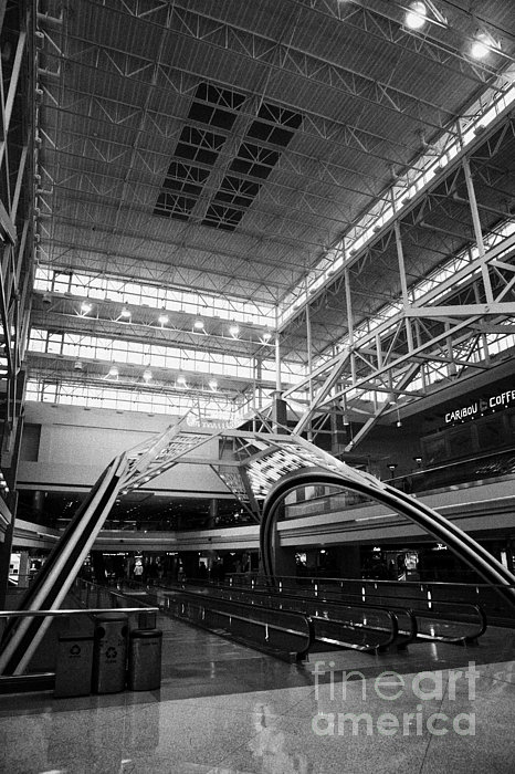 concourse B at Denver International Airport Colorado USA Print by Joe Fox