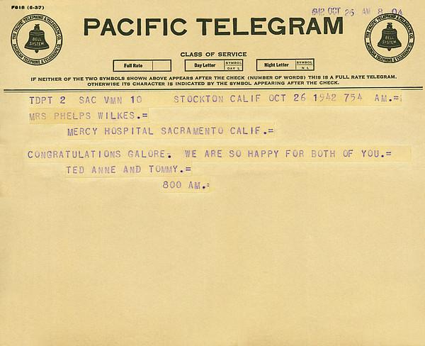 Congratulatory Telegram Print by Underwood Archives