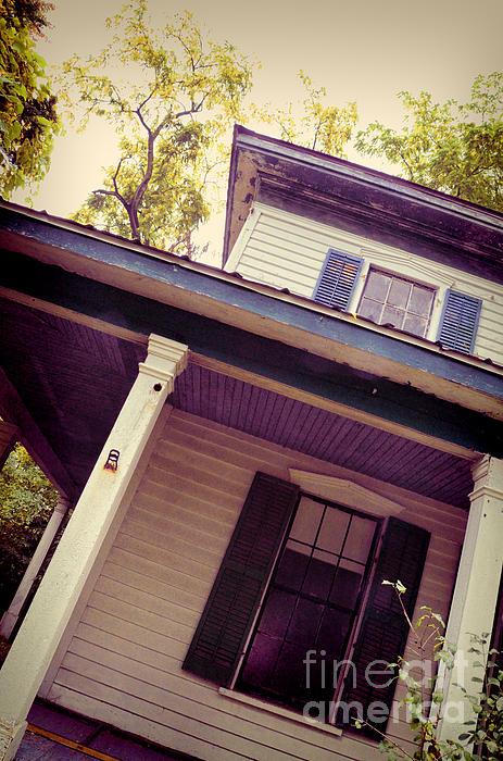 Creepy Old House Print by Jill Battaglia