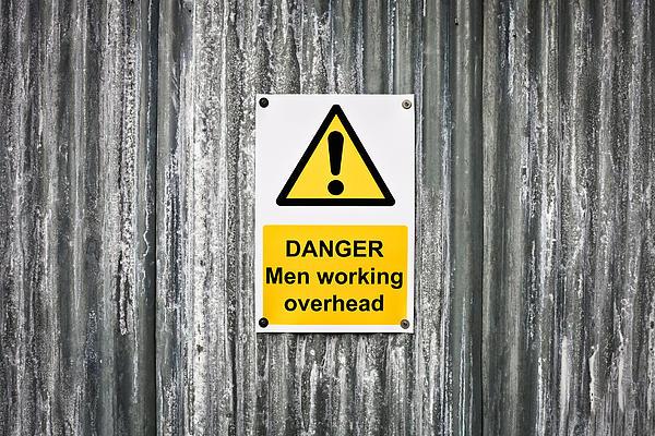 Danger Sign Print by Tom Gowanlock