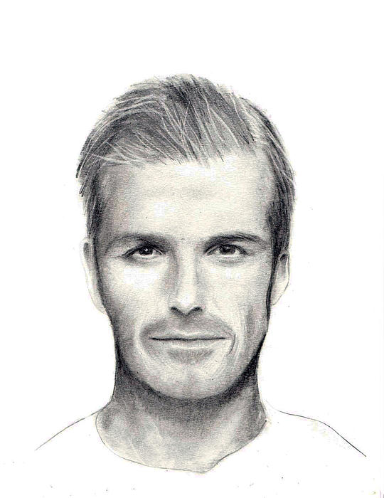 David Beckham Print by Mary Mayes