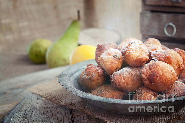 Deep Fried Fritters Donuts Print by Mythja  Photography