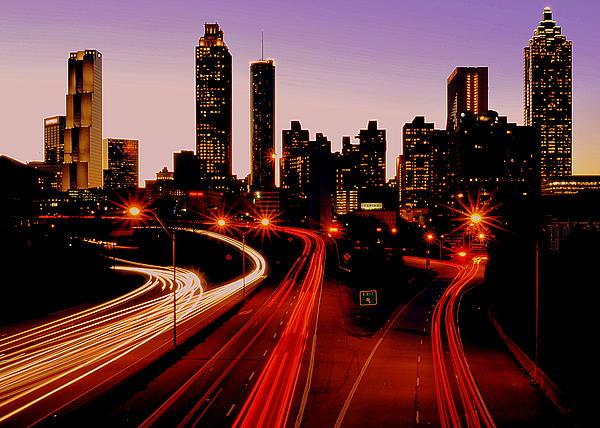 Downtown Atlanta Print by Ryan Johnson