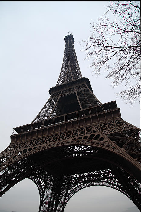 Eiffel Tower - Paris France - 01132 Print by DC Photographer