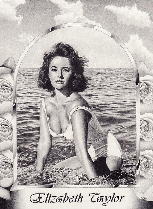 Elizabeth Taylor Print by Herb Jordan