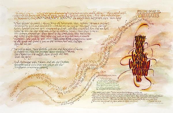 Emmaus Print by Judy Dodds