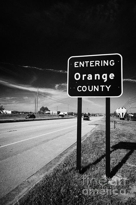 Entering Orange County On The Us 192 Highway Near Orlando Florida Usa Print by Joe Fox