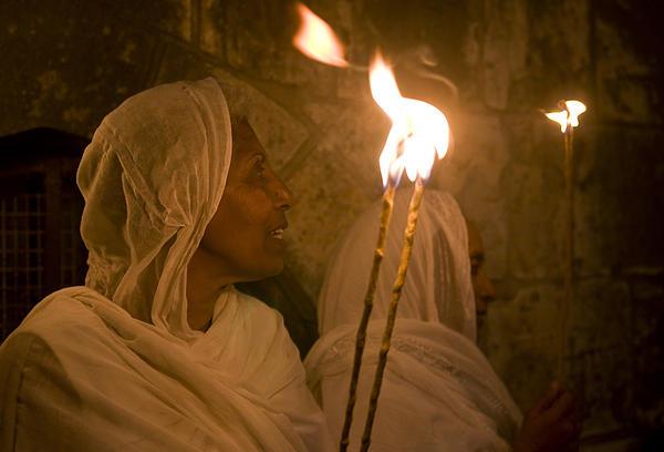 Ethiopian Holy Fire Ceremony Print by Kobby Dagan